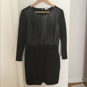 Club Monaco black leather dress